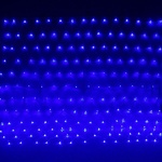 Серпантин Гирлянда электрическая Сетка LED 192 синяя, 1,55х1,45м,  8 режимов, пр/пр