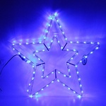 Серпантин Фигура LED Дюралайт Звезда 2 контура 54 см синяя