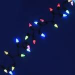 Серпантин Гирлянда электрическая LED H 50 Шишки  (RGB) 5м с удлинителем (к)