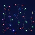 Серпантин Гирлянда электрическая LED Н 30 Шарик (ф20) RG\RB, 5м, с удлинителем