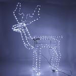 Серпантин Фигура LED Дюралайт Олень (1м*1,15м) с кивком белый
