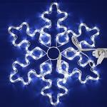 Серпантин Фигура LED Дюралайт Снежинка 57см белая