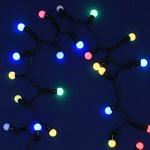 Серпантин Гирлянда электрическая LED H 50 Шарики RGB полноцветных, 5м  с удлинителем