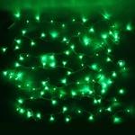 Серпантин Гирлянда электрическая LED Нить 200 зелёная, 16,5м, прозр.провод