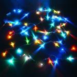 Серпантин Гирлянда электрическая LED Нить 100 RGB, 9.5м, пр/пр, эконом