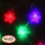 Серпантин Гирлянда электрическая LED H 32 Снежинка матовая, RG/RB, 5,5 м, пр/пр авторежимы