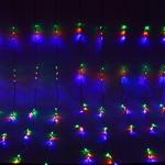 Серпантин Гирлянда электрическая LED Водопад 672 прозрачный (мульти) 2х2,5м.