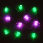Серпантин Гирлянда электрическая LED H 10 шишки RGB, 3 м,  прозр провод