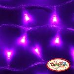 Серпантин Гирлянда электрическая LED H 100 фиолетовый, 9,5м, контр,прозр провод, уд, Стандарт