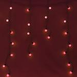 Серпантин Гирлянда электрическая LED Бахрома волна 96, 3х0,3х0.4х0.5м. красная к