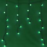 Серпантин Гирлянда электрическая LED Бахрома волна 96 зелёная 3х0,3х0.4х0.5м к