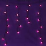 Серпантин Гирлянда электрическая LED Бахрома волна 96 (розовая) 3х0,3х0.4х0.5м. (к)