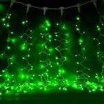 Серпантин Гирлянда электрическая LED Дождь 432, прозрачная, зеленый  2х3м, к