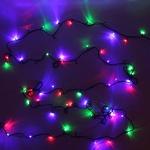 Серпантин Гирлянда электрическая LED 100  мульти , 9,5м, 8 режимов, зел.шнур, к, Элит