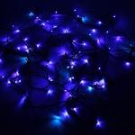 Серпантин Гирлянда электрическая LED 100  синяя , 9,5м, 8 режимов, зел.шнур, к, Элит