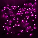 Серпантин Гирлянда электрическая LED 100  розовая , 9,5м, 8 режимов, зел.шнур, к, Элит