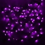 Серпантин Гирлянда электрическая LED 100  фиолетовая, 9,5м,8 режимов, зел.шнур, к, Элит
