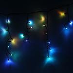 Серпантин Гирлянда электрическая LED-Big Бахрома 100 (RGB) 0,3х0,6х5м, авторежимы, (черный.шнур)(к)