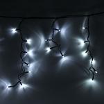 Серпантин Гирлянда электрическая LED-Big Бахрома 100 Белая 0,3х0,6х5м, контроллер, черный.шнур к