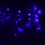 Серпантин Гирлянда электрическая LED-Big Бахрома 100 (синяя) 0,3х0,6х5м, авторежимы, черный.шнур, к