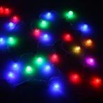 Серпантин Гирлянда электрическая LED Н 30 Одуванчик  RG\RB, 5м, с удлинителем, прозр.провод