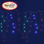 Серпантин Гирлянда электрическая LED Бахрома 120 мультицвет (0,3 и 0,5)х3м