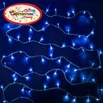Серпантин Гирлянда электрическая LED Нить 100 синяя, 9.5м, пр/пр, эконом