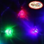 Серпантин Гирлянда электрическая LED H 20 Колокольчик, RG/RB, 5,5 м, пр/пр авторежимы, удл