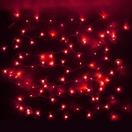 Серпантин Гирлянда электрическая LED Нить 100 красная, 9.5м, пр/пр, эконом