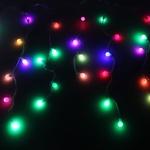 Серпантин Гирлянда электрическая LED Бахрома Н 96 Шар(RGB) (3х0,3х0.4х0.5м) с удл. без контр.(пр/пр)