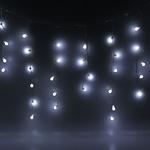 Серпантин Гирлянда электрическая LED Бахрома Н 96 Шар белый (3х0,3х0.4х0.5м) с удл. без контр.(п/п)