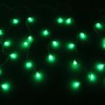 Серпантин Гирлянда электрическая LED Бахрома Н 96 Шар зелён (3х0,3х0.4х0.5м) с удл. без контр.(п/п)