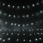 Серпантин Гирлянда электрическая LED Занавес-Волна 480 белый (3х2м) , проз.пров (к)