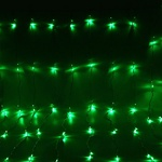 Серпантин Гирлянда электрическая LED Водопад 672 прозрачный, зелёный 2х2,5м