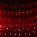 Серпантин Гирлянда электрическая LED Занавес-Волна 480 красный (3х2м) , проз.пров (к)