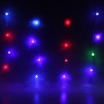 Серпантин Гирлянда электрическая LED Бахрома Н 52 Ежевика, RG/RB (2.8х0,6м 13нит), проз/пров