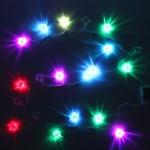 Серпантин Гиpлянда  3хАА LED 20 Н Фонарь китайский  RGB, 2м, авторежимы