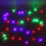 Серпантин Гирлянда электрическая LED Н 32 Фонарь прозрачный, RG\RВ,  5,5м