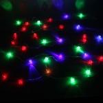 Серпантин Гирлянда электрическая LED Н 32 Куб ребристый RG\RB, 5,5м