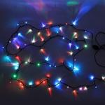 Серпантин Гирлянда электрическая LED 300 внешняя (RGB), (20 м) авторежимы,черн.шнур
