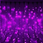 Серпантин Гирлянда электрическая LED 100 внешняя (фиолетовых) (11,5 м), 8 режимов, зел.шнур