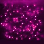 Серпантин Гирлянда электрическая LED Нить 100 розовая, 9.5м, пр/пр, эконом