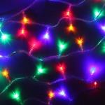 Серпантин Гирлянда электрическая LED H 100 мульти, 9,5м, контр,прозр провод, уд, Стандарт