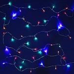 Серпантин Гирлянда электрическая LED Нить 50  мультицвет, 5,2м, пр/пр