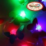 Серпантин Гирлянда электрическая LED H 32 Цветы с листьями  ,RG/RB,5,м,