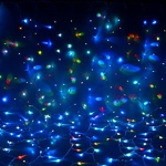 Серпантин Гирлянда электрическая LED Дождь 432 прозрачная (RGB) 2х3м.