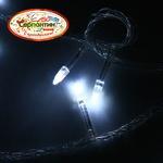 Серпантин Гирлянда электрическая LED H 100  белый, 9,5, контр,прозр провод, уд, Стандарт