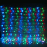 Серпантин Гирлянда электрическая Сетка LED 300, мультицвет, 1,6х2м прозр.провод, 8 реж