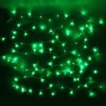Серпантин Гирлянда электрическая LED Нить 100, зеленая, 9.5м, пр/пр, эконом