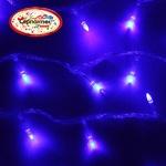 Серпантин Гирлянда электрическая LED H 100 синий, 9,5м, контр,прозр провод, уд, Стандарт